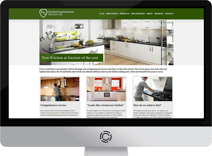 Web Design Aberdeen | KTS Kitchens | Creative Impact