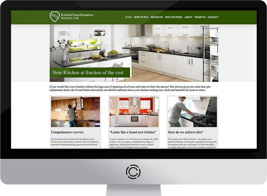 web design aberdeen kts kitchens creative impact