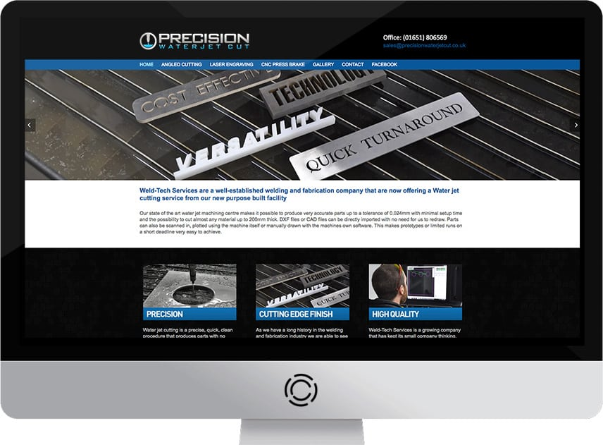 Web Design Aberdeen | Precision Water Jet Cutting