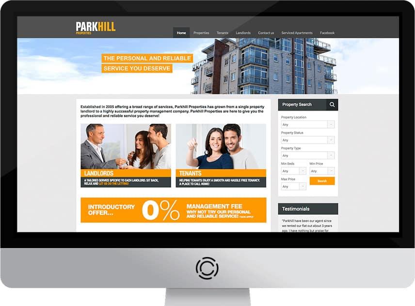 Web Design Aberdeen   Parkhill Properties   Creative Impact