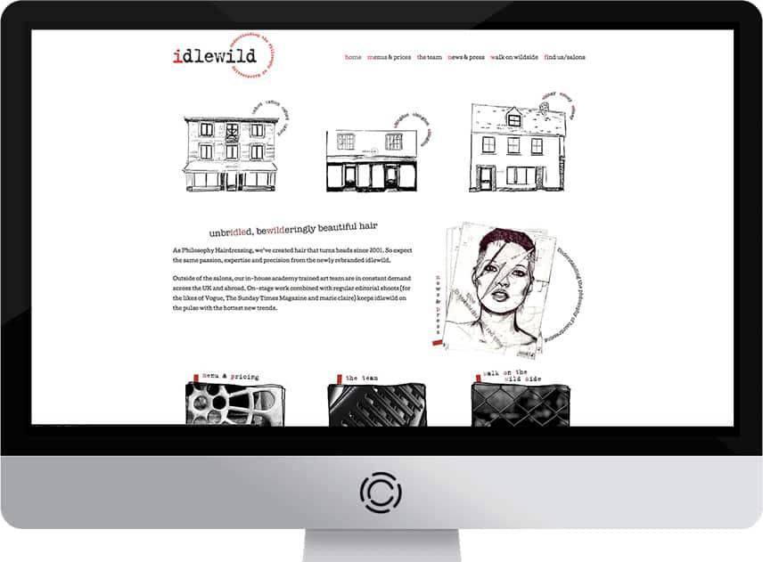 Idlewild Hair Web Design