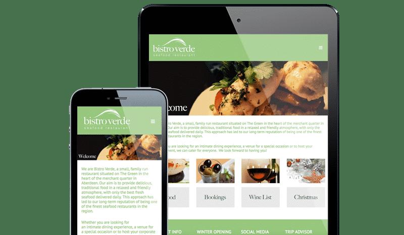 Web Design Aberdeen   Bistro Verde   Creative Impact