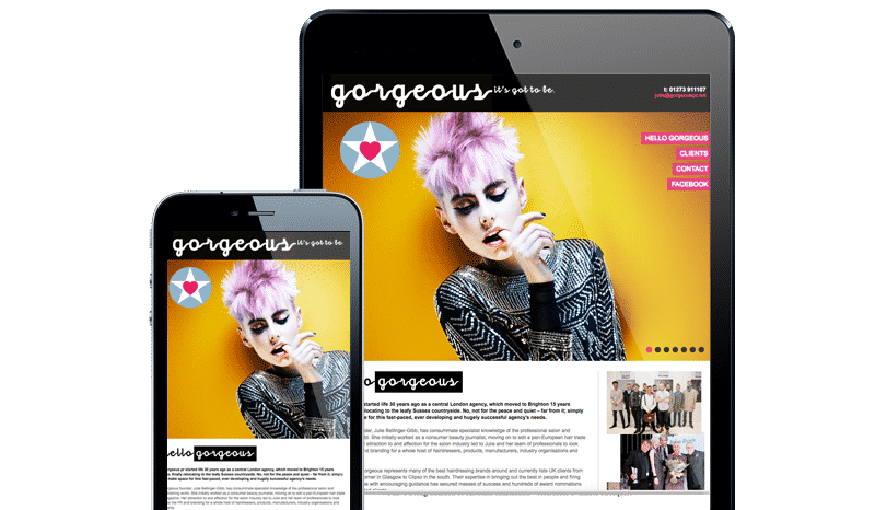 Web Design Aberdeen | Gorgeous Hair | Creative Impact