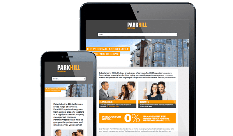 Web Design Aberdeen | Parkhill Properties | Creative Impact