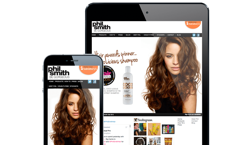 Web Design Aberdeen | Phil Smith Hair | Creative Impact