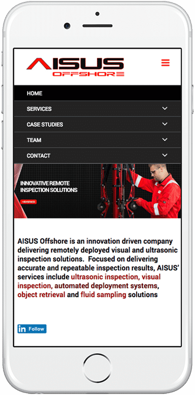 Web Design Aberdeen | Aisus Offshore | Creative Impact