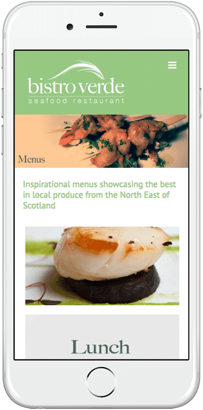 Web Design Aberdeen | Bistro Verde | Creative Impact