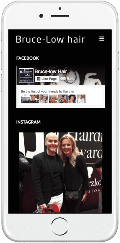 Web Design Aberdeen | Bruce Low Hair | Creative Impact