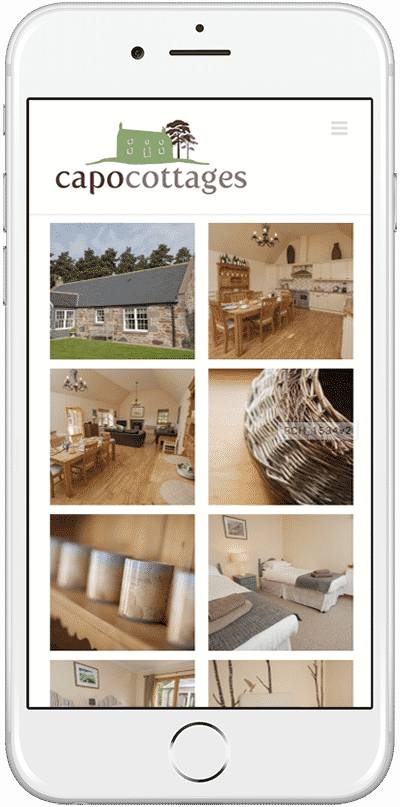 Web Design Aberdeen | Capo Cottages | Creative Impact