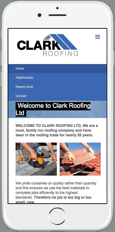 Web Design Aberdeen | Clark Roofing | Creative Impact