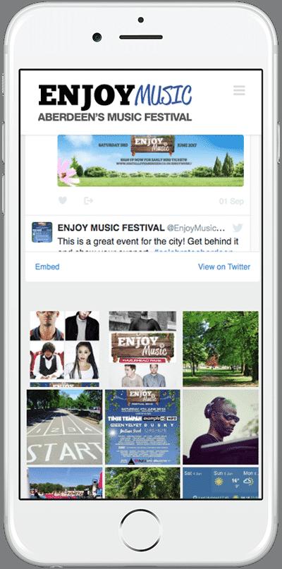 Web Design Aberdeen | Enjoy Music | Creative Impact