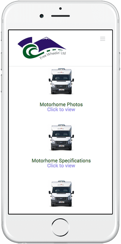 Web Design Aberdeen | Freewheelin Motorhomes