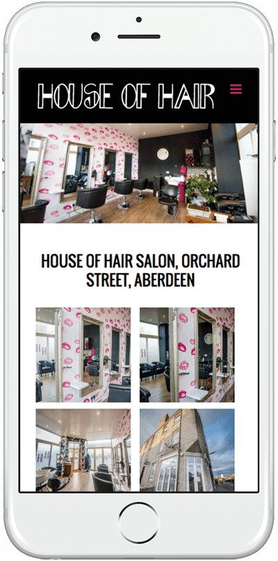 Web Design Aberdeen | House of Hair | Creative Impact