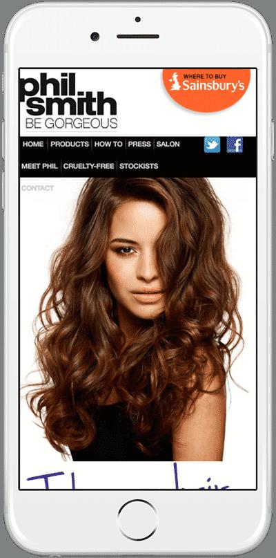 Web Design Aberdeen   Phil Smith Hair   Creative Impact