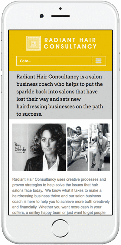 Web Design Aberdeen | Radiant Hair | Creative Impact