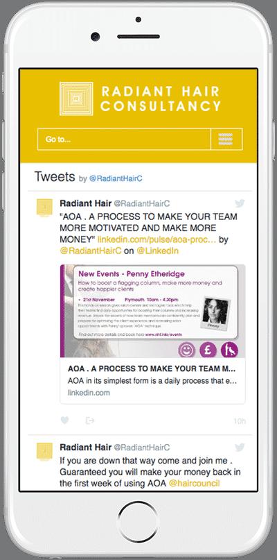 Web Design Aberdeen | Radiant Hair | Creative Impact