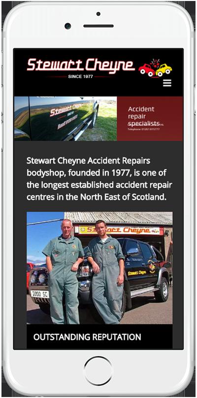 Web Design Aberdeen | Stewart Cheyne Autobody