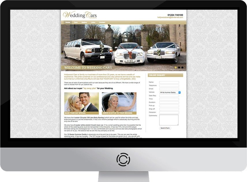 Web Design Aberdeen | Aberdeen Wedding Cars