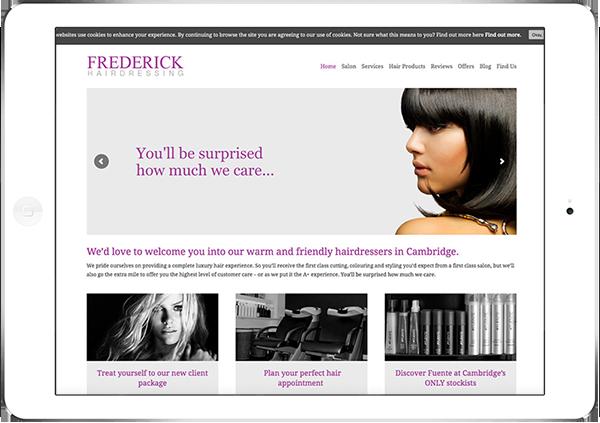 Web Design Aberdeen | Frederick Hair | Creative Impact