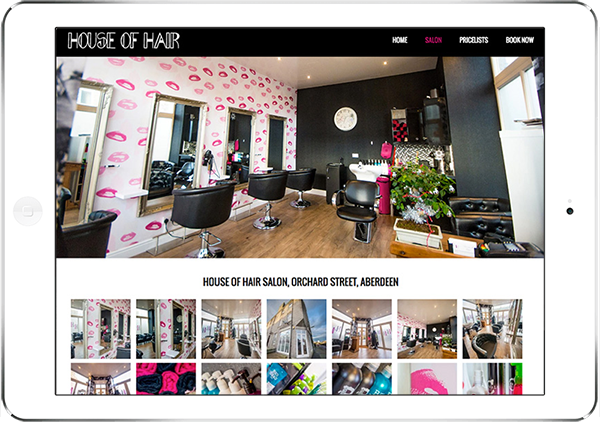 Web Design Aberdeen | House of Hair | Creative Impact