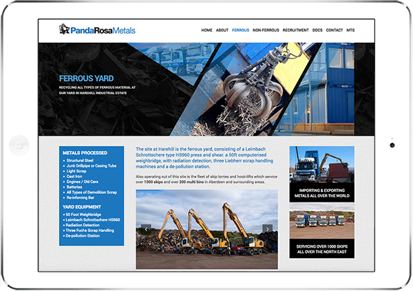 Web Design Aberdeen   Panda Rosa   Creative Impact