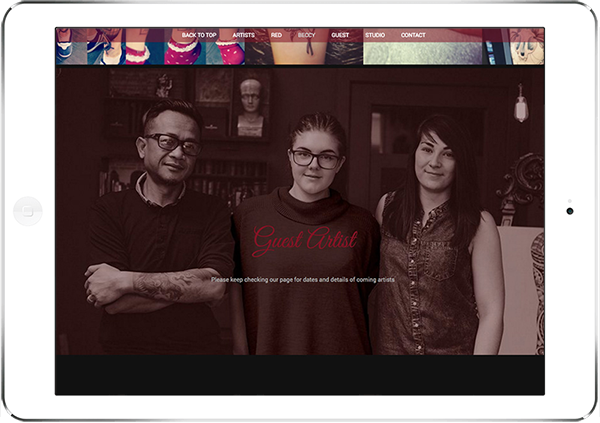 Web Design Aberdeen | Tattoo Rooms | Creative Impact