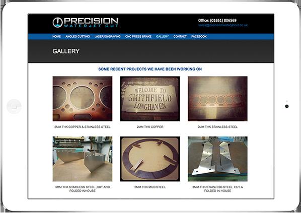 Web Design Aberdeen   Precision Water Jet Cutting